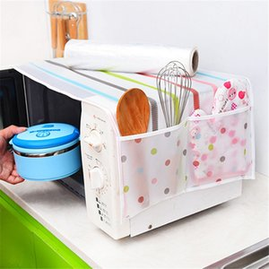 1Pc Romantic Microwave oven cover with 2 pouch dustproof cotton cloth cover romantic style microwave oven set PC896256