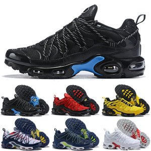 2019 Arrival Mercurial Plus Tn Ultra SE Kids Running Shoes Quality Ultra White Silvery Men TN1 Net Surface Sports Sneakers