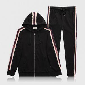 New 2020 Men's luxury full zip designer tracksuit man medusa sport suit Men jogger set fashion mens hoodies sweatshirts outdoor sportswear