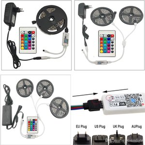 Wifi RGB LED Strip String Light 5M 10M 15M Water Viexble Light Led Ribbe Tape 5050 Light Ded With Power Pluge Control
