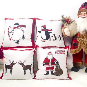 New Noel Christmas Pillow Case Xmas Gifts Linen Pillow Cover Merry Christmas Decorations for Home Natal New Year Decor Navidad