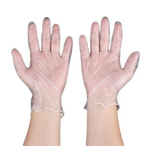 Disposable transparent gloves PVC oil-proof headgear household universal cleaning gloves environmental protection gloves