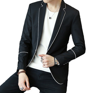 Herrenkleidung beiläufige Blazer Sakko Drop Shipping Slim Fit M-3XL Weiß Großhandel Schwarz Grau Männlich Fest Blazer
