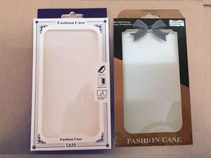 Universal PVC PC + Paper Paquete al por menor para Iphone 11 XR XS MAX X S10 Note 10 4.7 5.5inch Funda de cuero suave y dura Funda trasera Embalaje Moda