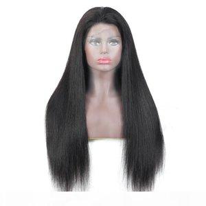 L Brazilian Virgin Hair 180 %Density Full Lace Wig Silky Straight Cheap 10 -28inch Full Lace Wigs High 180 Density