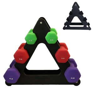 1pcs Dumbbell Bracket Triângulo Folhas Pequenas Big deixa formas diferentes Dumbbell Bracket Fitness Equipment Acessórios