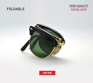 2019 venta al por mayor nueva marca superior Vintage Folding club de moda gafas de sol hombres mujeres maestro gafas graduadas gafas de sol gafas de sol 2176