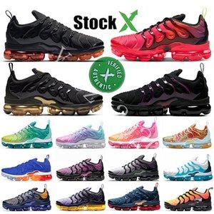 2020 وسادة الأبخرة TN زائد اسود الليزر قرمزي الهواء الرجال النساء الاحذية الجهد الأرجواني الأسود براون ابيض أكوا Maxes حذاء رياضة مدرب