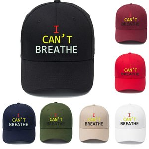 I Can't Breathe Baseball Hat 7 Colors Letter Printed Embroidered Outdoor Summer Snapbacks I Cant Breath Caps OOA8040