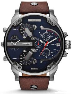 Beş yıldız higt kaliteli Spor askeri montres yeni reloj büyük kadran gösterge dizelleri mens DZ7312 DZ7313 DZ7314 DZ7315 dz7311 dz izlemek saatler