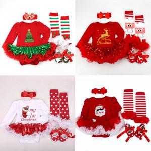 2019 크리스마스 Baby 의상 롬퍼 Dress Santa Claus 코스프레 자 복장 Bebes 죄수 복 신생아 Baby Girls 옷 MX190912