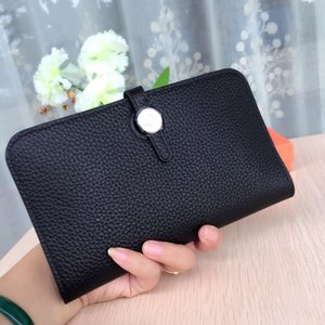 Sexy2019 Litchi Woman Grain Head Layer Cowhide Inside and Outside Full Skin Long Fund Hand Catch Package superará el grupo de billetera