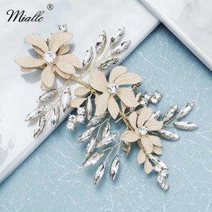 Moda Fiore Miallo cristallo Fasce per le donne gli accessori dei capelli di nozze d'oro Handmade Color Porm copricapo gioielli regalo