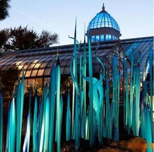 Creative Murano Glass Floor Lamp Standing Reeds for Garden Art Decoration Custom Made Hand Blown Glass Sculpture 90cm 120cm 150cm