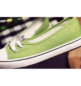 Spring And Autumn Shallow Mouth Women &#039 ;S Canvas Shoes Korean Student Lazy Set Feet Flat Pedals Women &#039 ;S