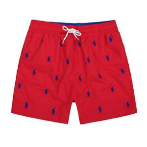 Yeni ürünler Moda Nakış Küçük At lüks erkek Plaj şort Plaj Sörf Yüzmek Spor Rahat Saf renk adam Mayo