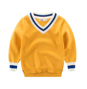 2019 new Kids Clothing Autumn children's clothing Korean boy sweater solid color children's Pullover sweater explosion