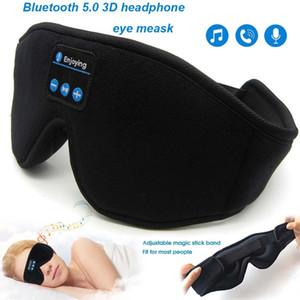 JINSERTA Bluetooth 5.0 stéréo sans fil écouteur sommeil 3D Masque Bandeau sommeil Écouteurs doux sommeil Masque pour les yeux Casque Musique