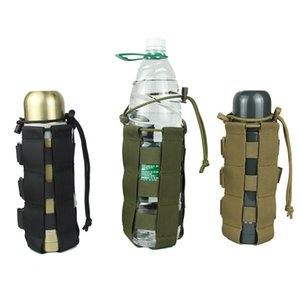 Outdoors Water Bottle Pouch Tactical Gear Kettle Waist Shoulder Bag for Army Fans Climbing Camping Hiking Bags