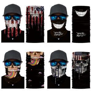 Shemagh Military Camouflage Skull Scarf Scarves Wraps Neck Warmer Unisex Seamless Bandana Motorcycle Buffe Magic Face Shield Ka #694#778