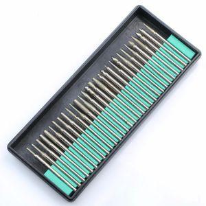 고품질 30PCS 다이아몬드 코팅 드릴 비트 세트 로타리 도구 버 연삭 3mm 헤드 생크 전기 연마 조각