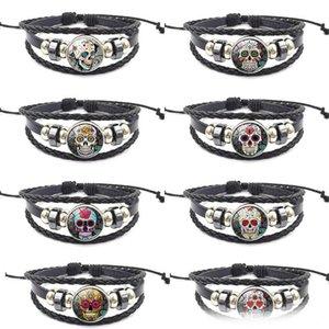 Zuckerschädel-Armband Glas Ingwerkeks Knopf Chunks Verpackungs-Armband Entwerferschmucksachen Frauenarmbänder Designer Armband DROP SHIP