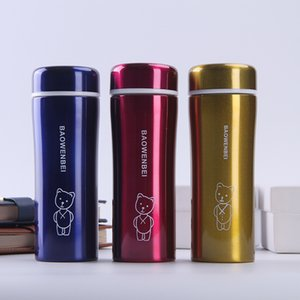 New Style Insulated Stainless Steel Bottle Spacious Fashion Cartoon Tumbler Creative Bear Water Cup