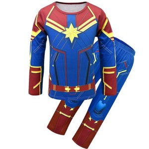 The Avengers Set Cosplay Costumes Thor Iron-Man Captain America Pajamas Hoodie Spider-Man Hulk T-shirt Top Pants Party Gift