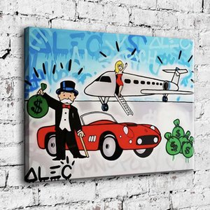 Dipinte a mano Alec Monopoli pittura a olio della decorazione della casa di arte della parete su tela di canapa Fragrant auto bellezza 24x30inch Unframed