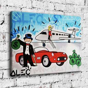 Alec Monopoly pintura a óleo Home Decor Wall Art on Canvas perfumado carro beleza 24x30inch Unframed pintados à mão