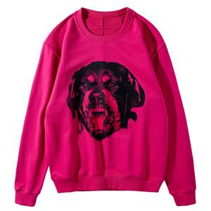 19FW Mens Stylist Hoodies Mens-Qualitäts-Stylist Sweatshirts Männer Frauen Dog Printed Fashion Long Sleeves Hoodie Sweater
