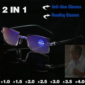 Highly Strength Reading Glasses Anti-blue Light and Blue Film Integrated for Women Men Full Degree +1.0 +1.5 +2.0 +2.5 +3.0 +3.5 +4.0
