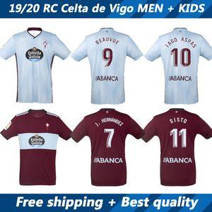 19 20 RC Celta de Vigo jerseys e crianças do jogo do futebol 2019 2020 Beauvue SISTO camisa de futebol casa longe camisa de Futebol uniformes de manga curta