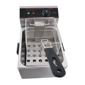 Kolice Monobombola 6L pollo Chip friggitrice elettrica friggitrice Fryer carrello pollo KFC frittura macchina della patata di frittura macchina