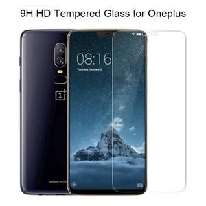 Téléphone en verre pour OnePlus 7 6 5 3 2 Film HD Trempé 9H débrouillés écran de protection anti-déflagrante protecteur pour OnePlus 6T 5T 3T
