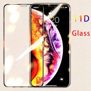 Vidro protetor de borda curvo 11d no protetor de tela temperado para iPhone 11 para iphone 11pro max