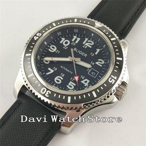 Bliger 44mm Wild Fashion Ceramic Bezel Arabic Numerals Automatic Date Wrist Watch 2598