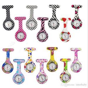 Krankenschwester-Uhr-Doktor-Quarz-Uhr-Silikon-Batteries Uhr Zebra-Leopard-Druck Taschen-Uhren Kind-Geschenk Uhren Tunika Batterien Uhren LTYP56