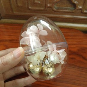 70 & 90mm Egg shape Transparent ball candy Chocolates box Christmas wedding decoration Home party gift boxes Window display