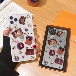 saco da forma transparente multi-padrão de caixa do telefone móvel para o iphone 11 pro Max Xr X Xs 7 7plus 8 8plus TPU caso macio da borda