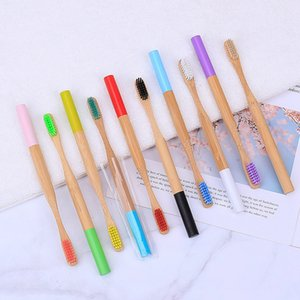 Natural Bamboo Toothbrush Wood Toothbrush Bamboo Soft Bristles Natural Eco Bamboo Fibre Wooden Handle Toothbrush For Adults RRA1338