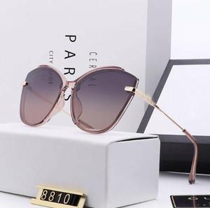 Оптово-дамы дизайнер бренда солнцезащитные очки cc поляризованные солнцезащитные очки polaroid hd объектив плоский дизайн моды тенденция 5 цветов на выбор