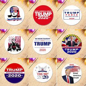 2020 ترامب التذكارية شارة الأمريكية ترامب الانتخابات الرئاسية بروش تين الانتخابات دبوس إبقاء أمريكا العظمى شحن سريع