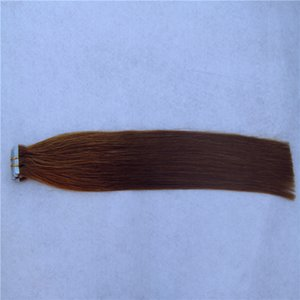 Pure Color Brazilian Virgin Hair Extensions 8-36 Inchs Remy Human Hair Extensions 2g stand 40pcs pack Tape In Hair Skin Weft