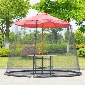 파티오 우산 커버 모기 그물 우산 표 메쉬 스크린 지퍼 하사하다 곤충 방지 일 보호를위한 야외 마당