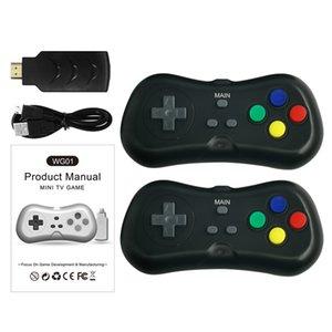 WG01 sem fio Super Mini TV Vídeo jogadores do jogo de console com Gamepad Handheld jogador para caçoa o presente Game Console 2.4G