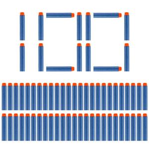 Balas 100PCS Darts Para Nerf suave oco Buraco Cabeça de 7,2 centímetros Refil Dardos Arma de Brinquedo para Nerf Series Blasters Xmas Kid presente das crianças