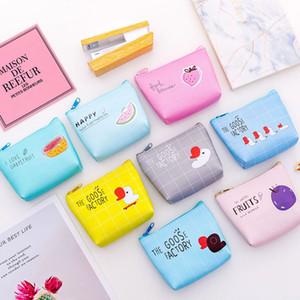 8 estilos Cute Fruit Bags Baby Boys Girl Zipper Monederos de la historieta Mini Niños Carta Animal PU Billetera WWA218