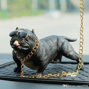 Simulation amerikanisches Bully Pitbull Auto Hundepuppen Ornament Nette Dekorationen Spielzeug für Autoteile Interieur Zubehör Dropshipping