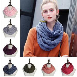 Cable de punto anillo bufanda mujeres suaves del invierno bufandas de cachemira infinito círculo del cuello bufanda de la manera Marca señoras bufanda caliente TTA1756